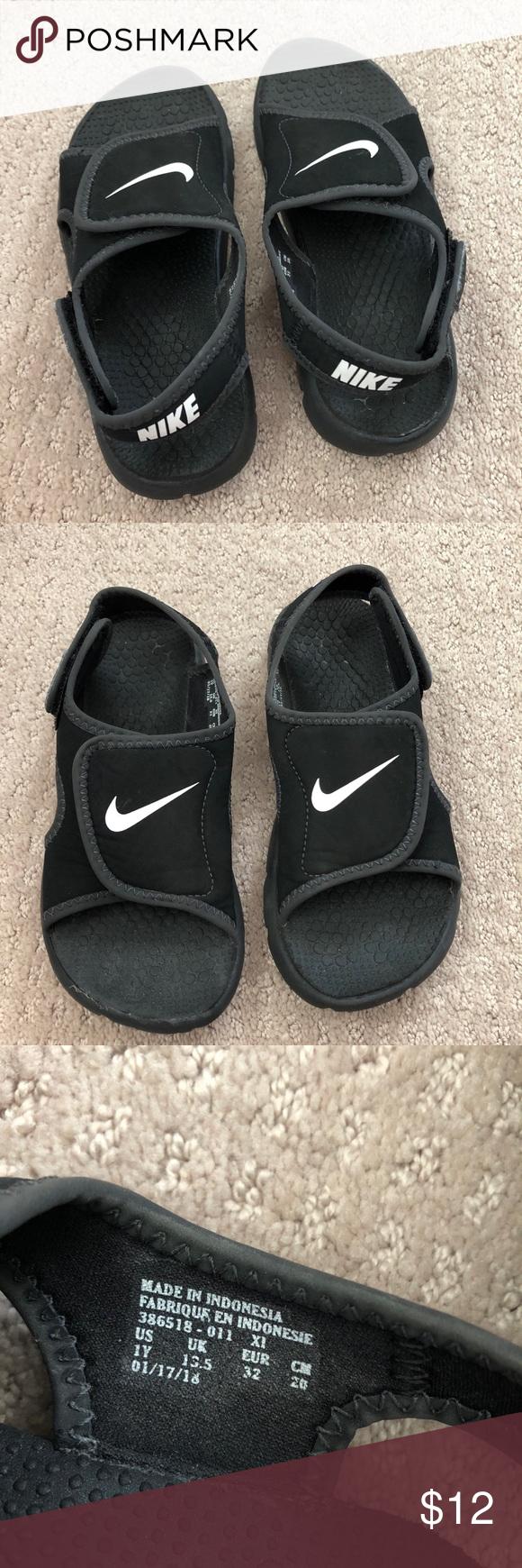 Boys Nike Sunray sandals size 1 | Boys