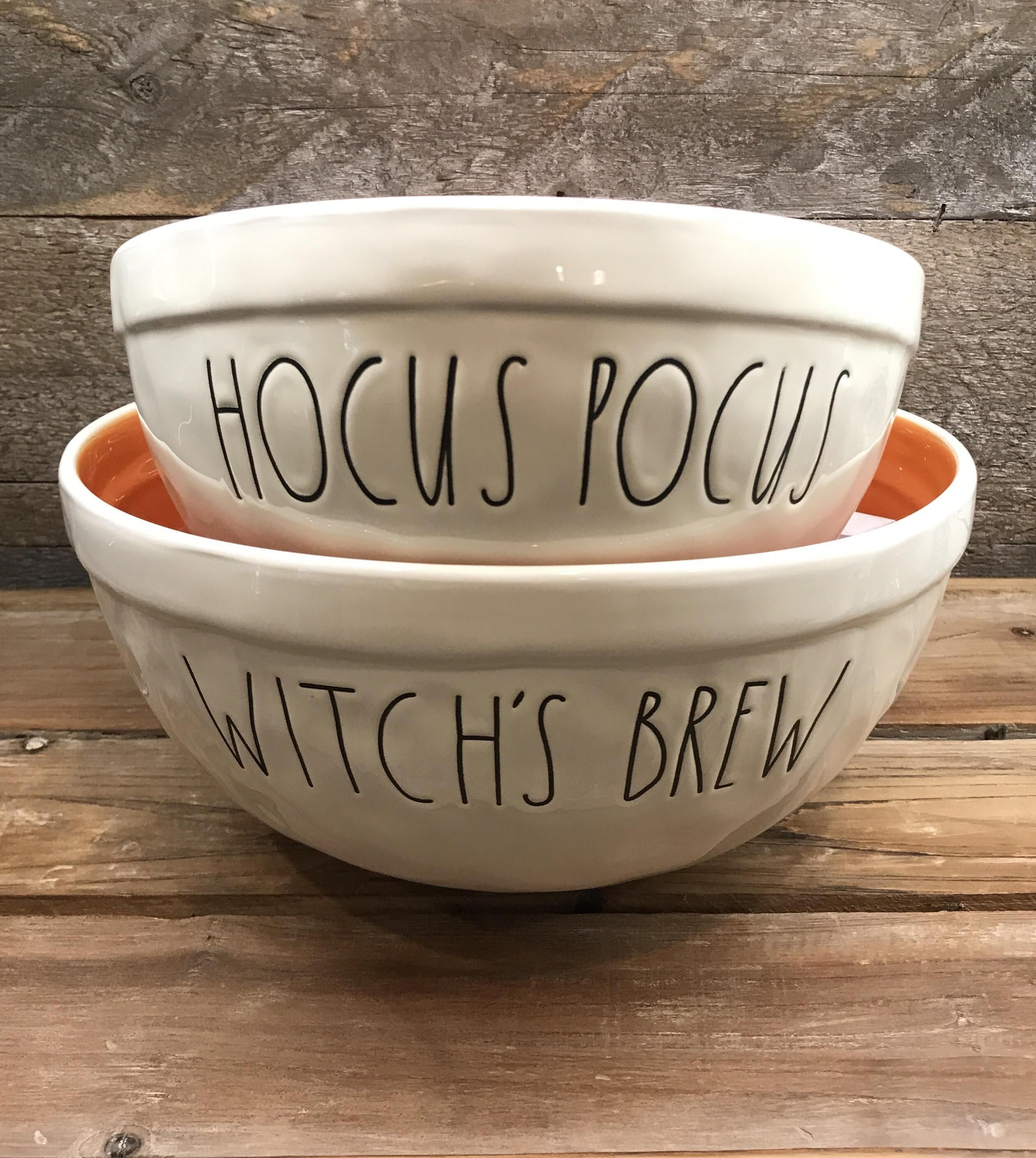 New Rae Dunn By Magenta Halloween Nesting Bowl Set Witches Brew