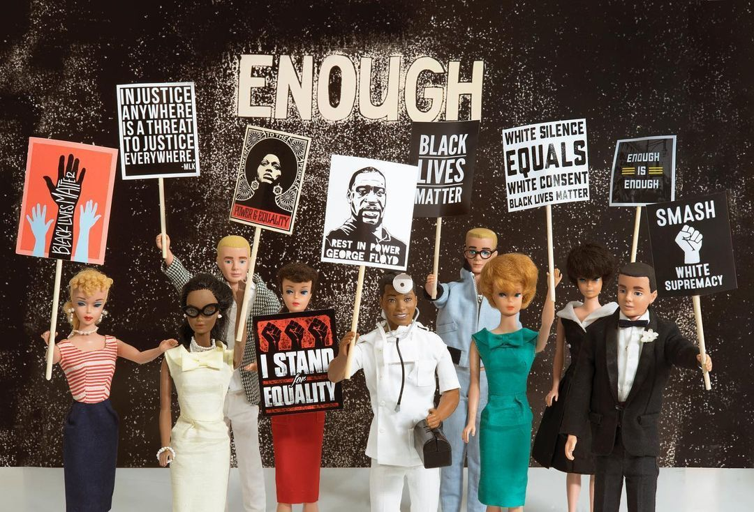 David Parise On Instagram Good Morning Wednesday Here S Enough My Protest In Support Of The Black Community During Barbie And Ken Vintage Barbie Barbie