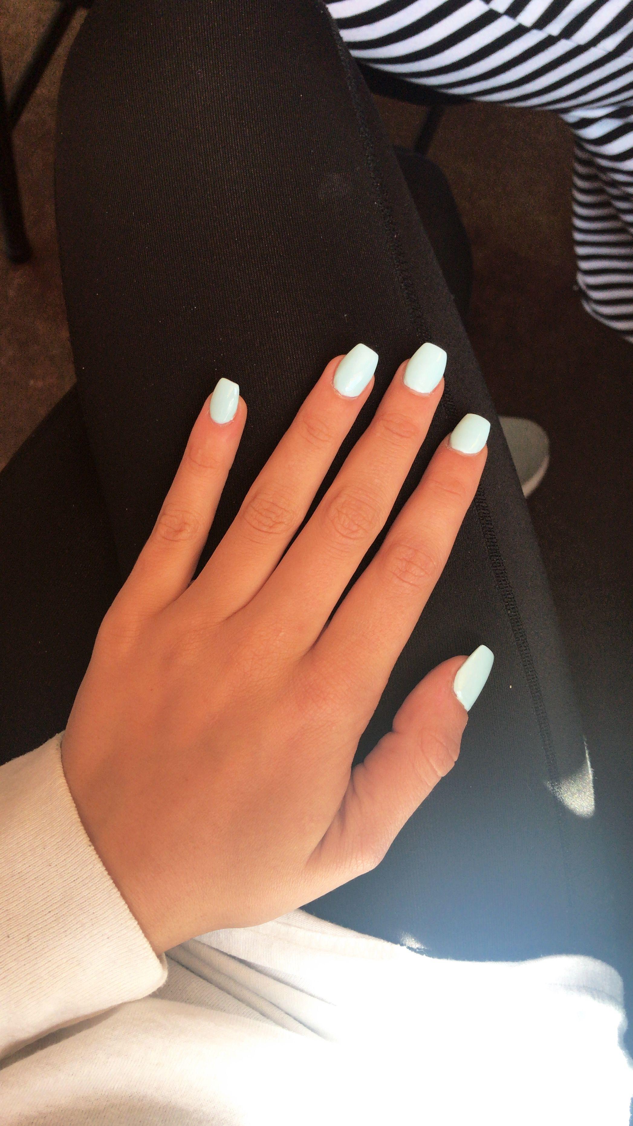 Light Blue Acrylic Nails Classy Acrylic Nails Blue Acrylic Nails Acrylic Nail Shapes
