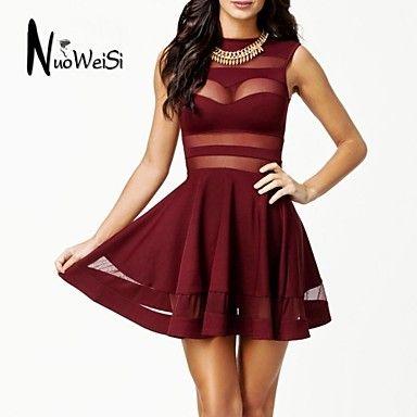 Nuo Wei si ® de las mujeres cortó el vestido sleevless - EUR € 13.90 ... 771ac35c0da5