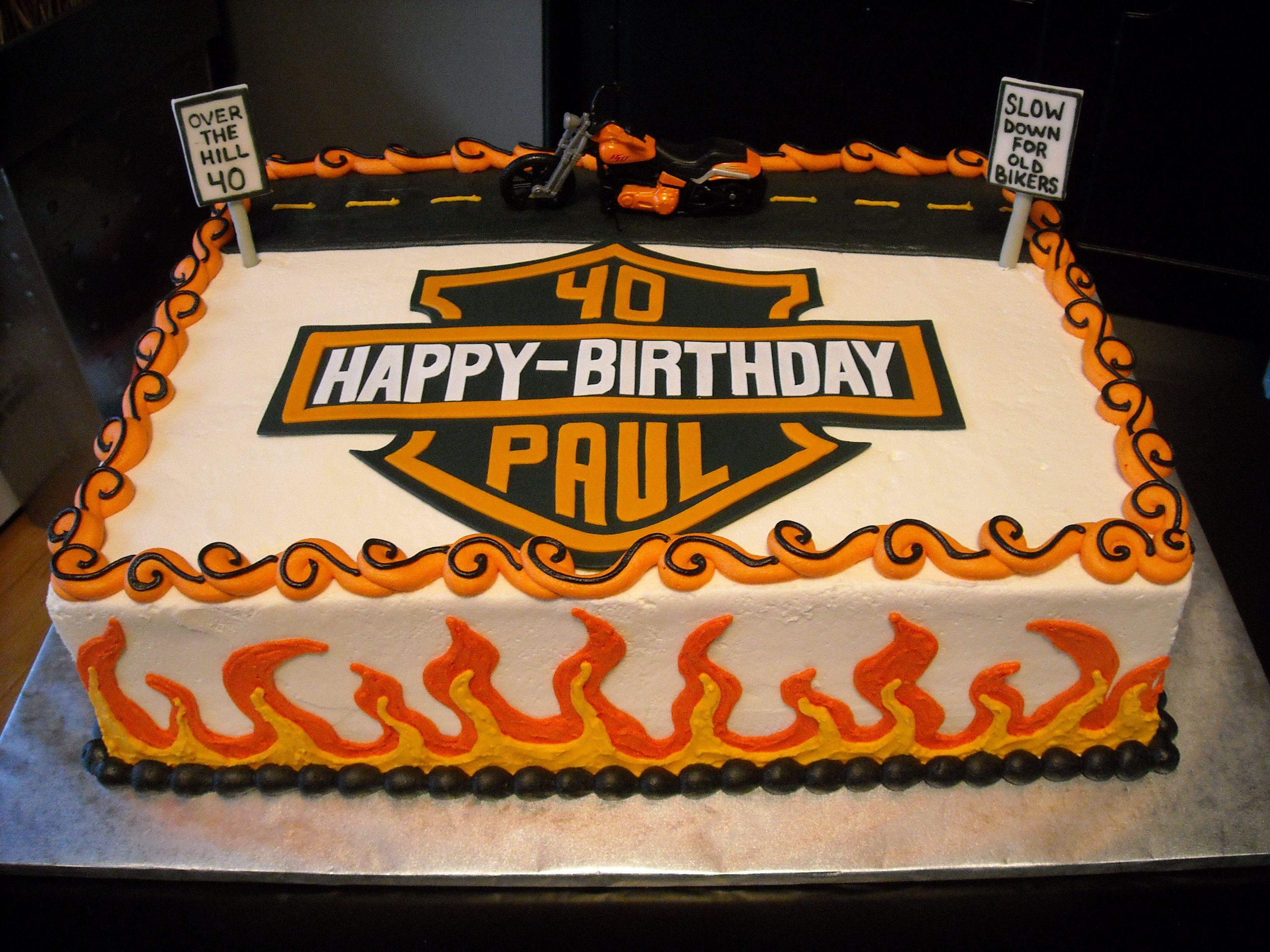 Harley Davidson Cake Motorbike Birthday Cake Deploy the