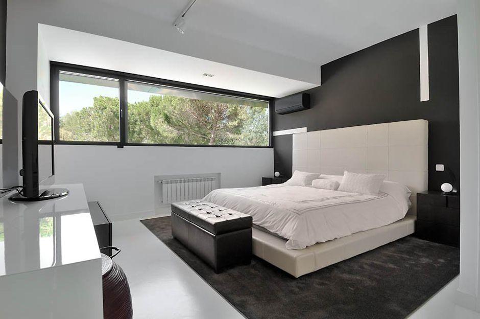 Black U0026 White Bedroom, Modern Renovation In Madrid, Spain