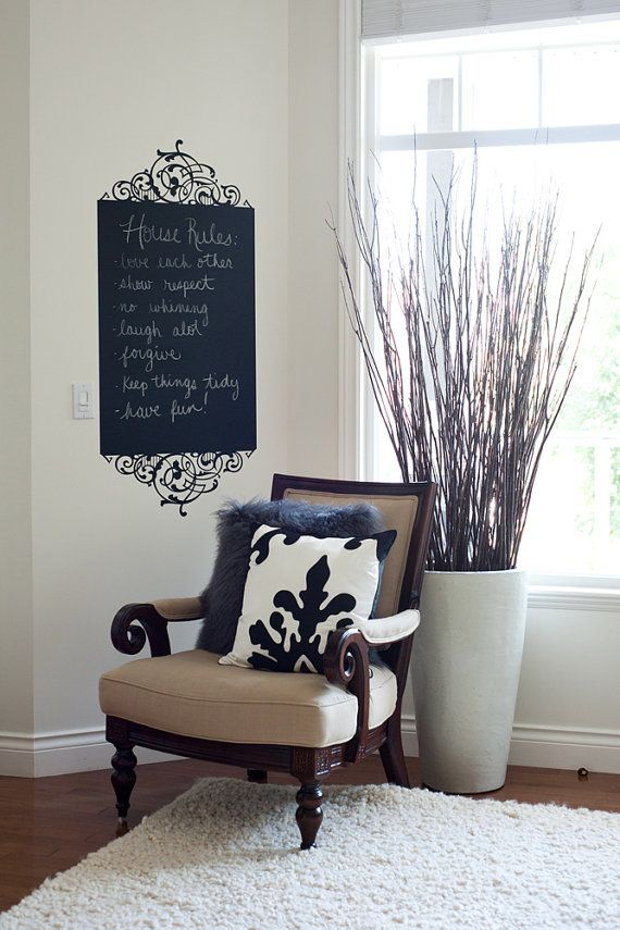 Chalk Wall Decal. Would be perfect to put in the kitchen for all ...