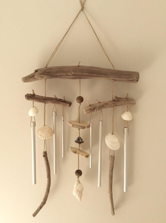 carillon en bois flott par l 39 atelier de corinne r serv. Black Bedroom Furniture Sets. Home Design Ideas