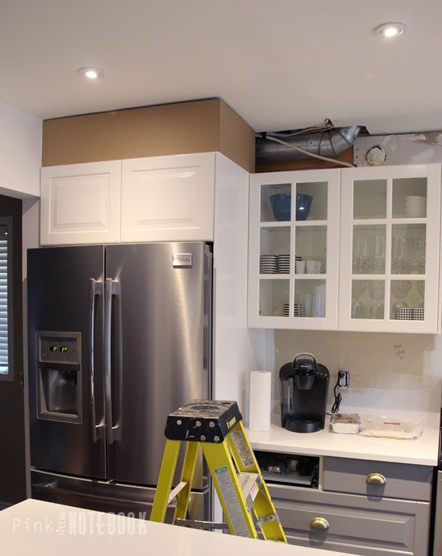 diy how to disguise a kitchen soffit  kitchen soffit
