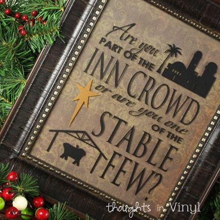Are You Part Of The Inn Crowd Christmas Crafts Vinyl