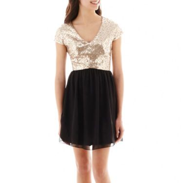 HOMECOMING Speechless® Sequin Top Over Chiffon Skirt - JCPenney