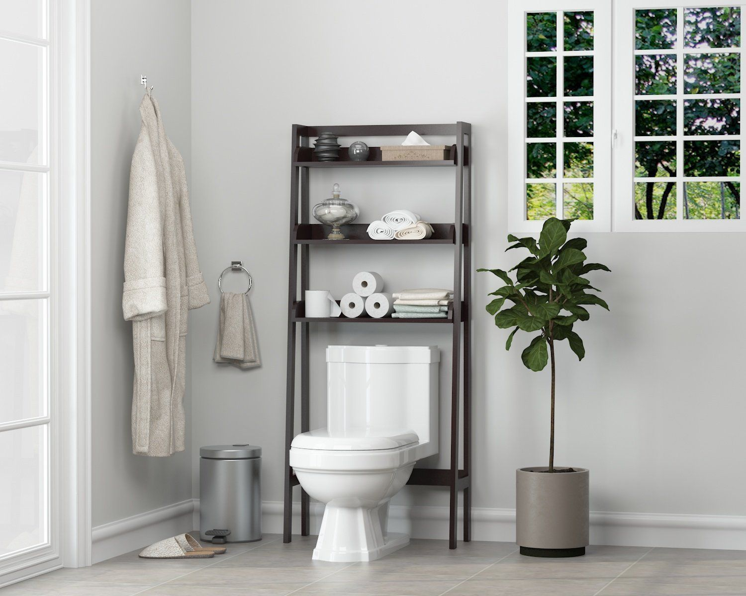 Amazon Com Utex 3 Shelf Bathroom Organizer Over The Toilet