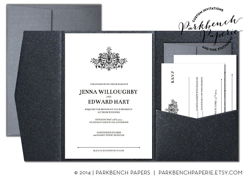editable wedding invitation rsvp card and insert card pocket fold