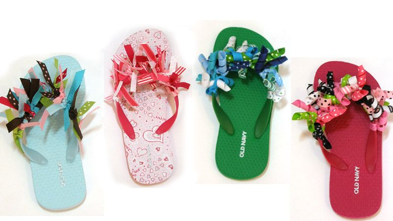 Diy flip flops get out of those cleats between games and for Flip flops for crafts
