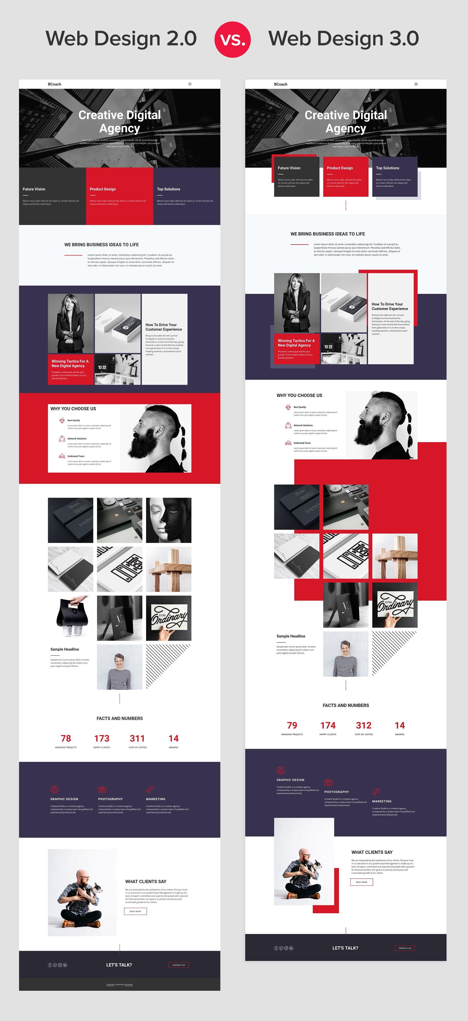 Web Design 2 0 Vs 3 0 Web Design Web Design Agency Modern Web Design