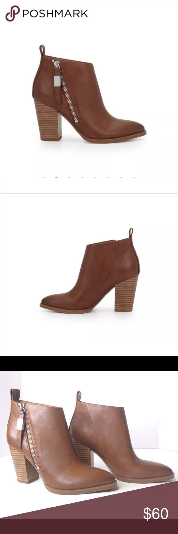 239fa11feb763b Circus Sam Edelman Blythe Ankle Boots Leather Tan new without defects Circus  By Sam Edelman Blythe
