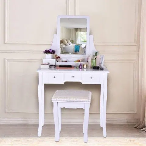 Top 10 Best Makeup Table Chair Set Review Product Rapid Dressing Table Vanity Vanity Table Set Bedroom Dresser Sets