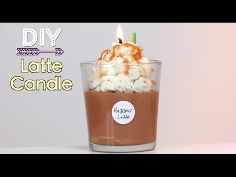"DIY Starbucks Latte Candle (I liked this tutorial! It shows how to make a ""wax"" straw & whipped wax... You could make mini melts like this too... cool... Deb)"