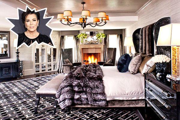 Kris Jenner The Best Celebrity Bedrooms Photos Luxury Bedroom Master Luxurious Bedrooms Dramatic Bedroom