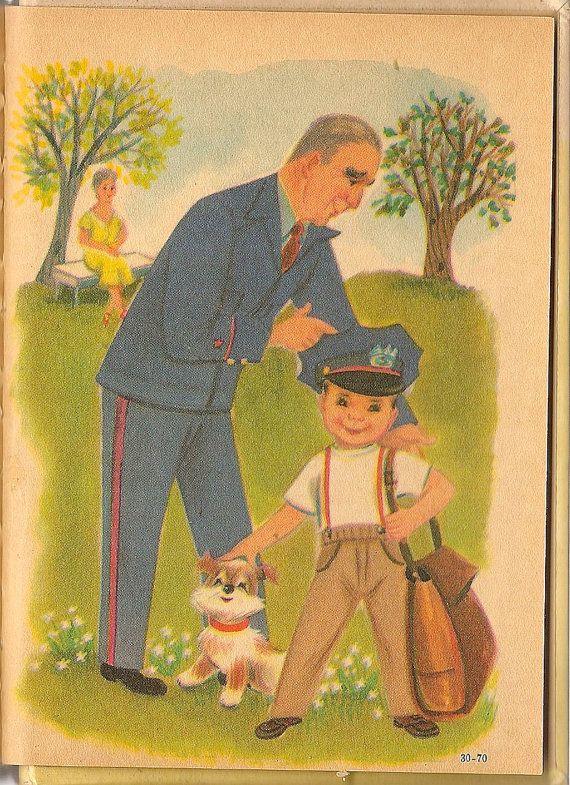 Vintage Kids Book Mailman Mike A Rand Mcnally By Hazelcatkins 10 00 Vintage Children S Books Community Helpers Mailman