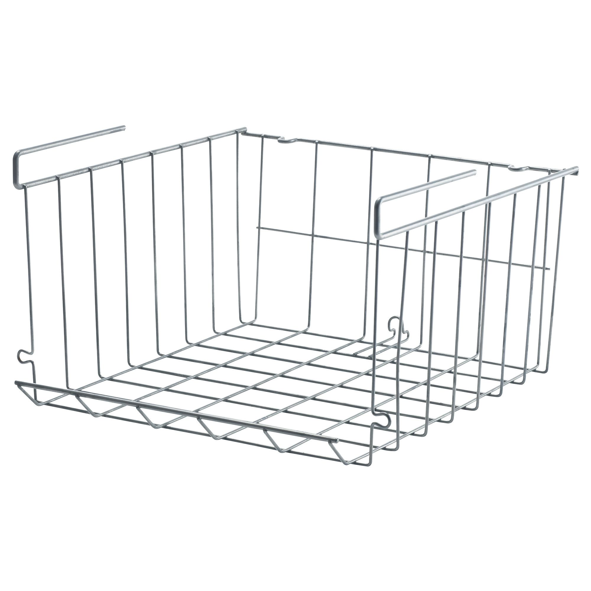 clip on under the shelf wire basket you can hang more than one rh pinterest com ikea bin shelves ikea wire basket shelves