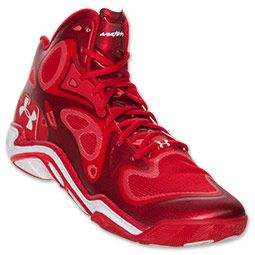 all red under armour shoes