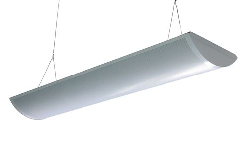 American Made 4 Lamp T8 Fluorescent High Bay With Mirrored Reflector 120 277v Lamp Long Lamp Led Grilles