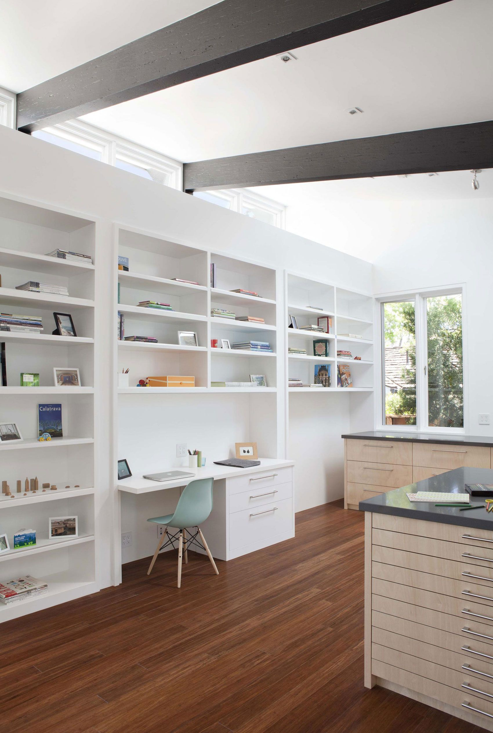 Net Zero Energy Modern House by Klopf Architecture | Home Office ...