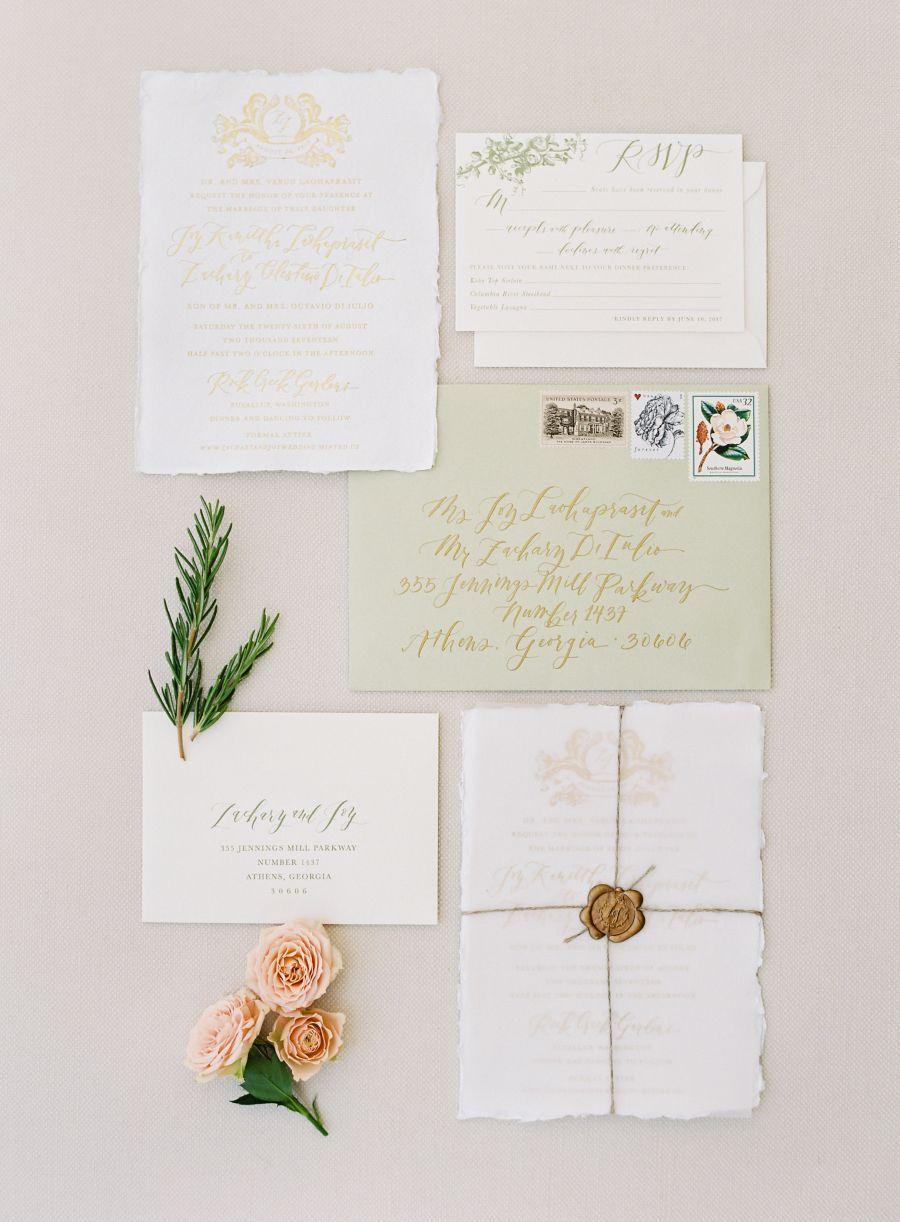 La happy floral inspired washington wedding invitation suite