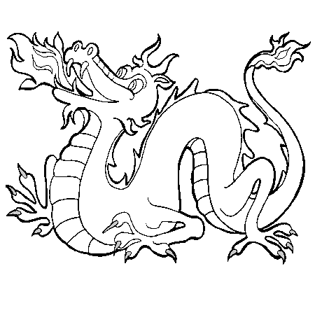 Dessin dragon de feu a colorier coloriage pinterest - Dessiner dragon ...