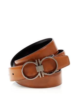 SALVATORE FERRAGAMO Reversible Belt with Thin Gancini Buckle.   salvatoreferragamo  buckle  e4a39fcb2123