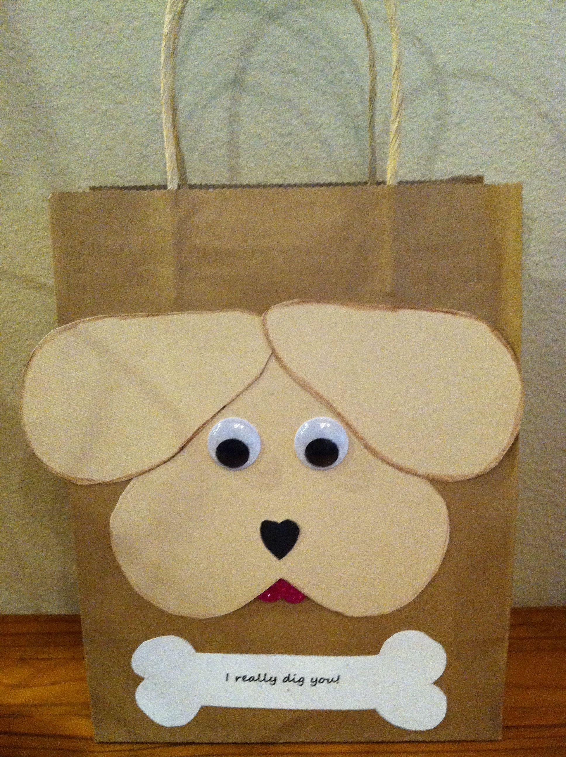 Puppy Dog Valentine Gift Bag