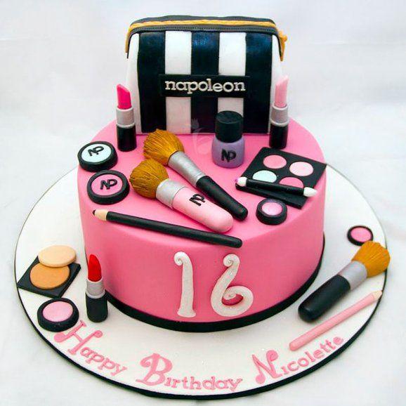makeup set cake design Image result for makeup cake  Make up cake, Sweet 1 cakes, Buy cake
