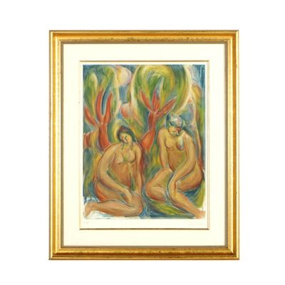Limited Edition Bob Guccione Lithograph Bathers Art T Art