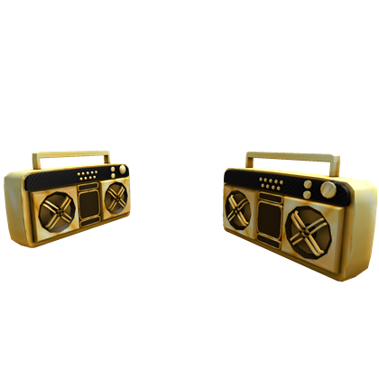 Dual Golden Super Fly Boomboxes - ROBLOX