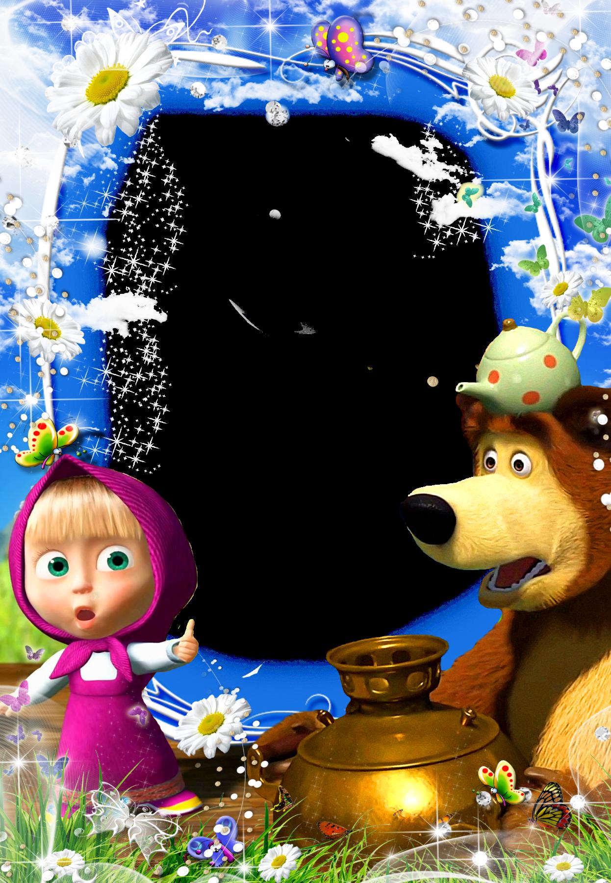 Фоторамки маша и медведь вертикальная