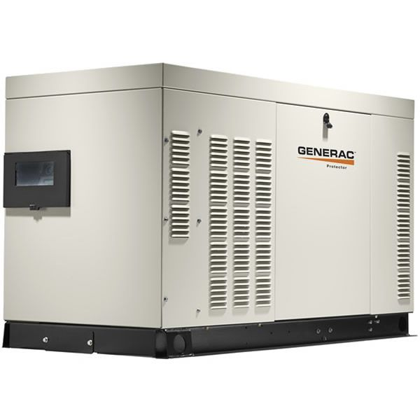 Generac Protector 45kw Automatic Standby Generator Aluminum 277 480v 3 Phase Carb Rg04524knac Power Generator Cool Stuff