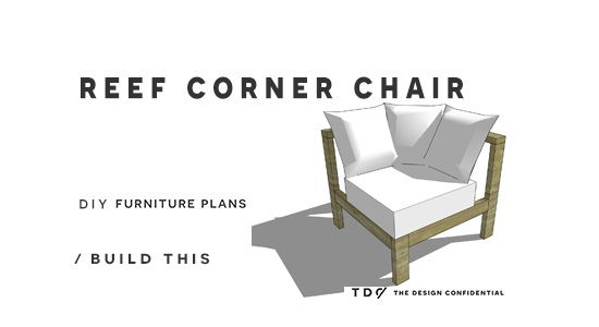 Free DIY Furniture Plans // How To Build An Armless Chair For The Reef  Outdoor Sectional Sofa | The Design Confidential | Pinterest | Diy Furniture  Plans, ...
