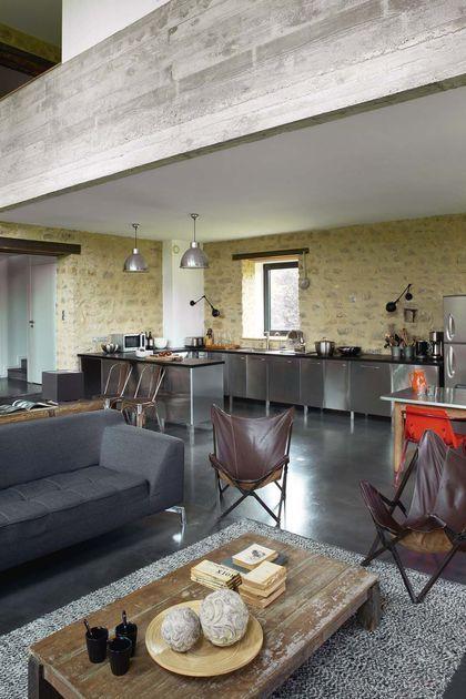 Rénovation maison ancienne, longère, ferme Maison Pinterest - dalle beton interieur maison
