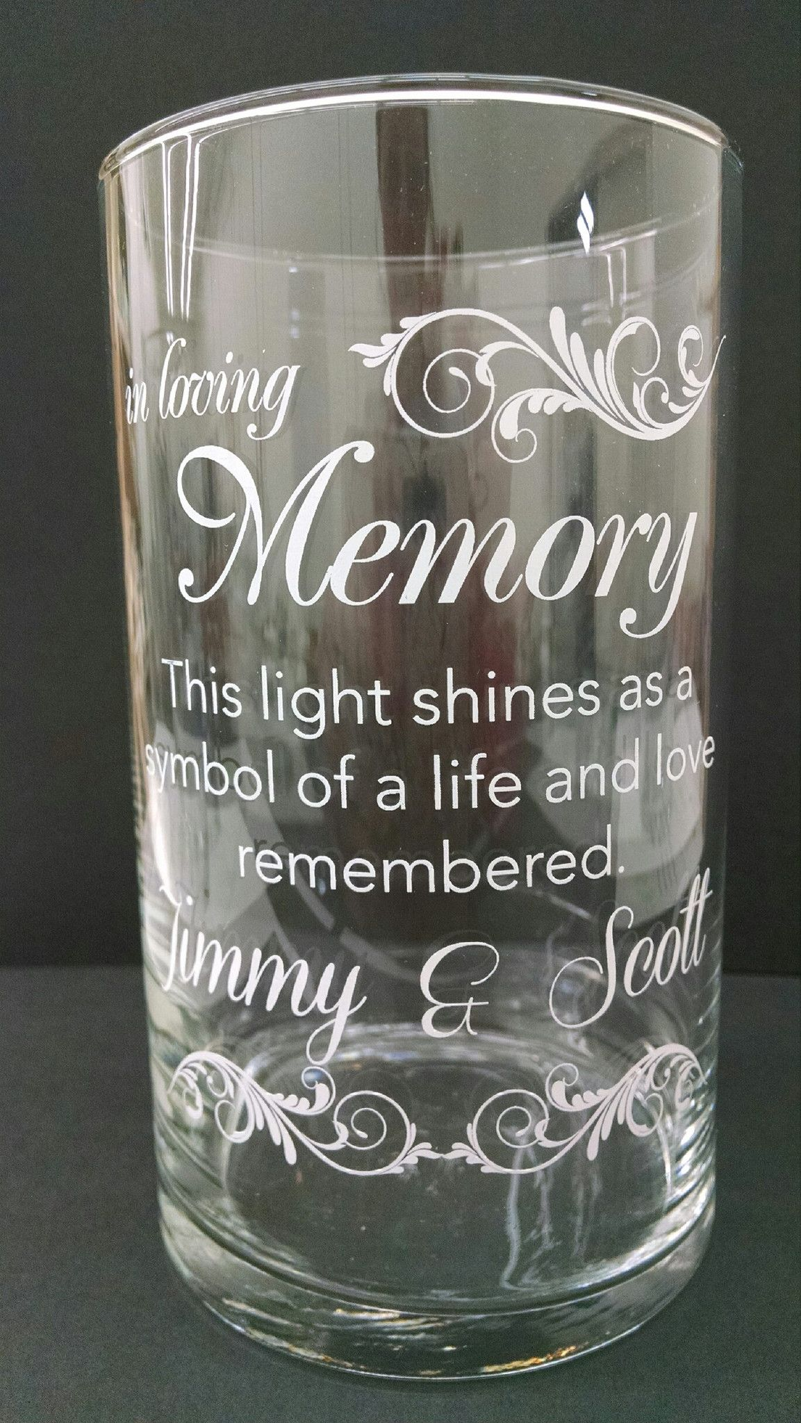 Memorial Candle - Personalized Holders Wedding