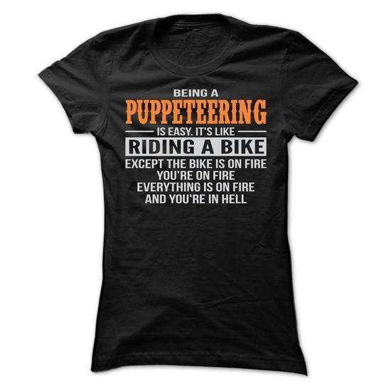 BEING A PUPPETEERING T SHIRTS - #summer tee #hoodie freebook. SATISFACTION GUARANTEED => https://www.sunfrog.com/Geek-Tech/BEING-A-PUPPETEERING-T-SHIRTS-Ladies.html?68278