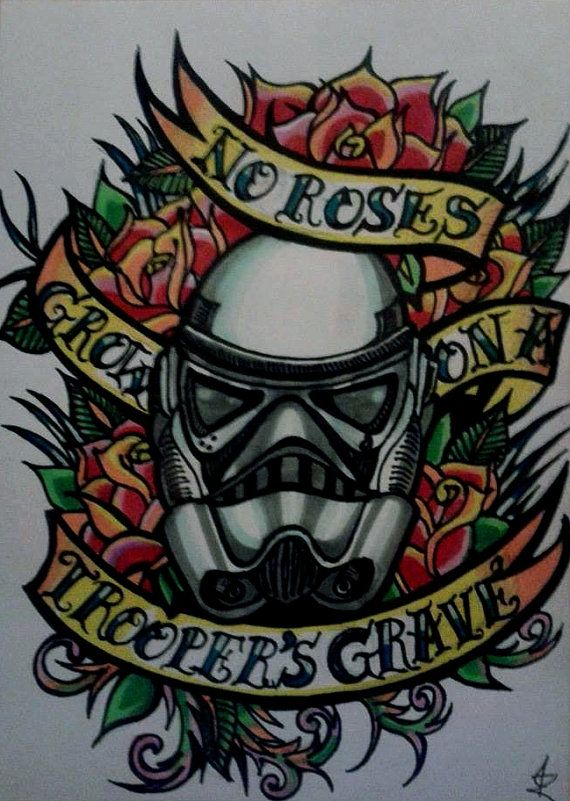 Stormtrooper Star Wars Tattoo Style Original by CaduceusCreations, $25.00