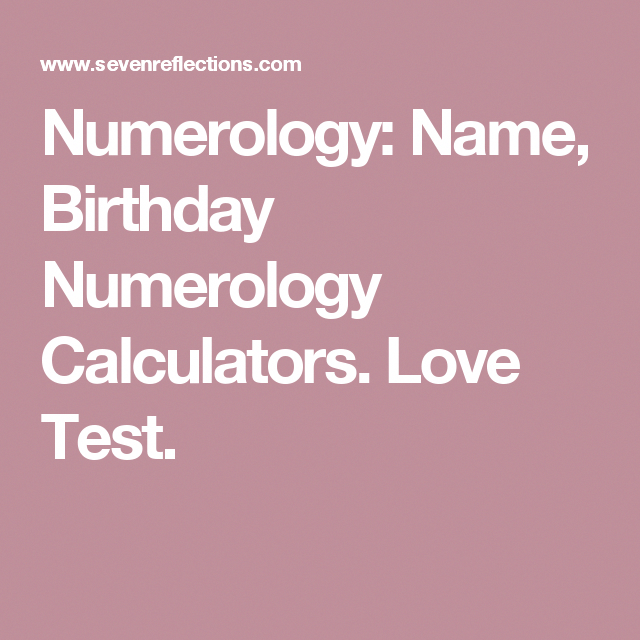 Birthday numerology compatibility calculator