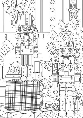 Nutcracker Printable Christmas Coloring Pages Printable Adult