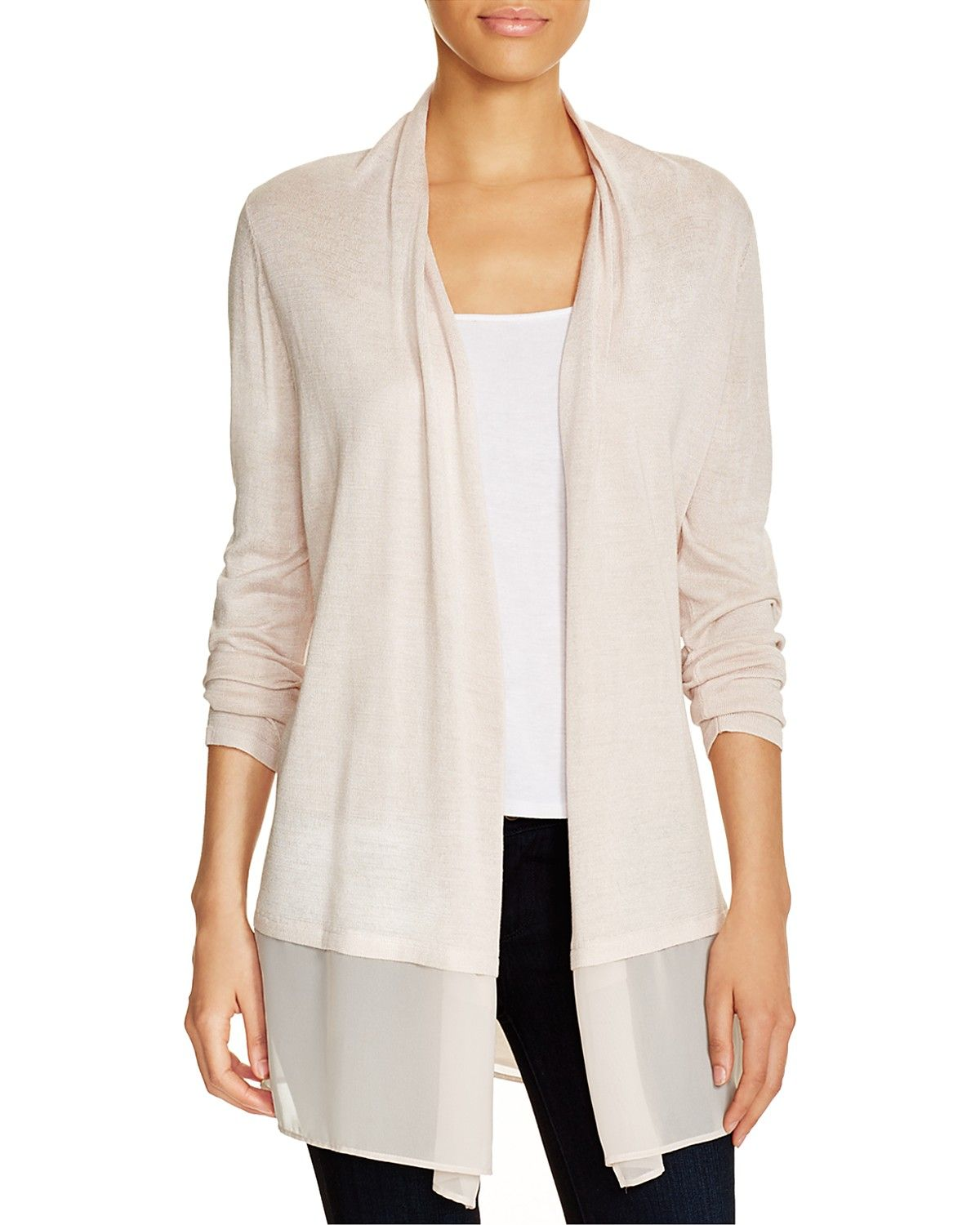 NIC ZOE Chiffon Trim Cardigan | My Style | Pinterest | Clothes and ...