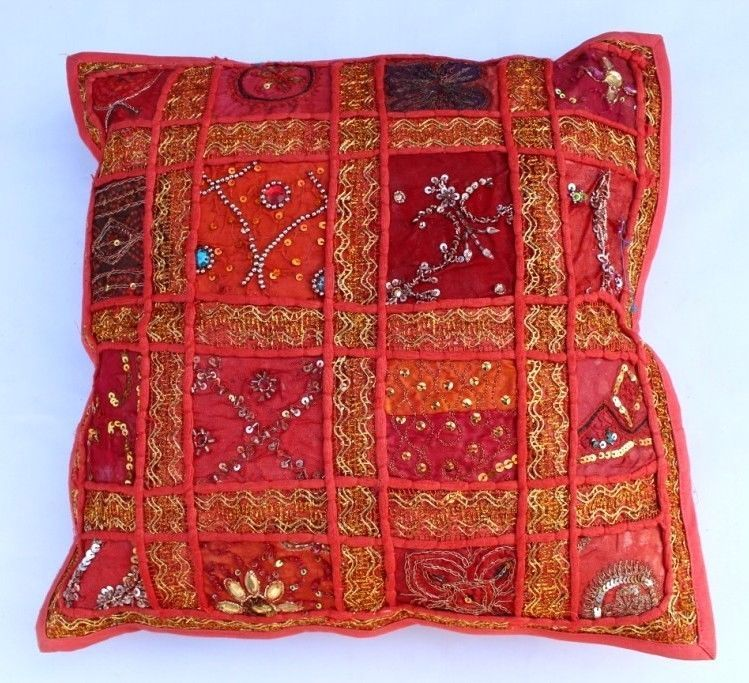 indian Handmade Patchwork cotton Cushion Cover Home Decor Pillow Cases KH107 #Handmade #Ethnic