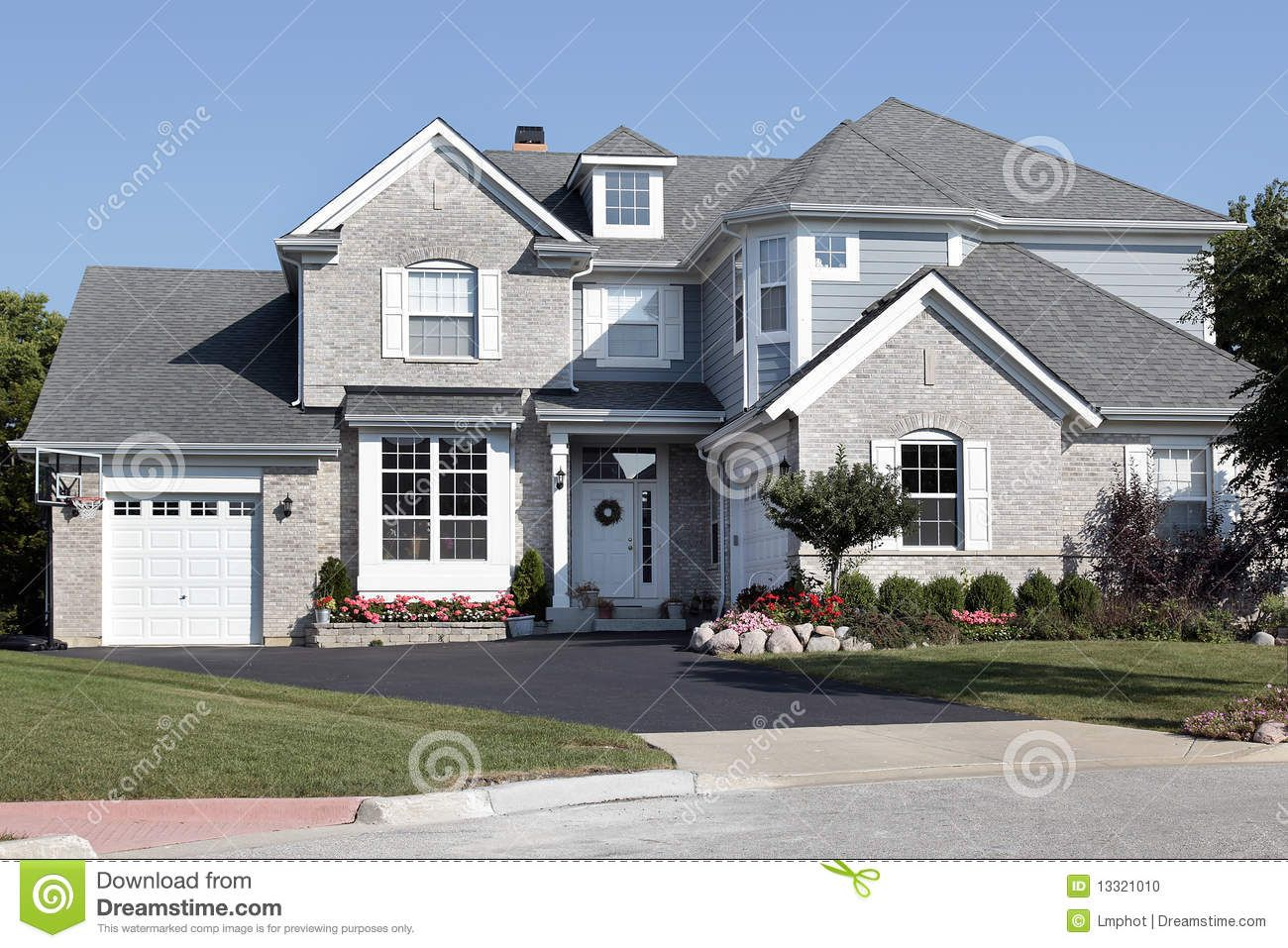 Siding Brick Combination Brick Exterior House Blue Siding Grey Brick Houses
