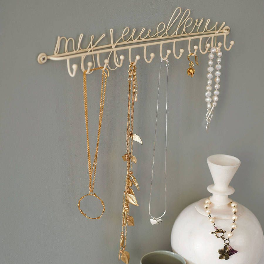 Jewelry Holder Wall Wall Mounted Jewellery Or Necklace Holder By Lisa Angel Homeware