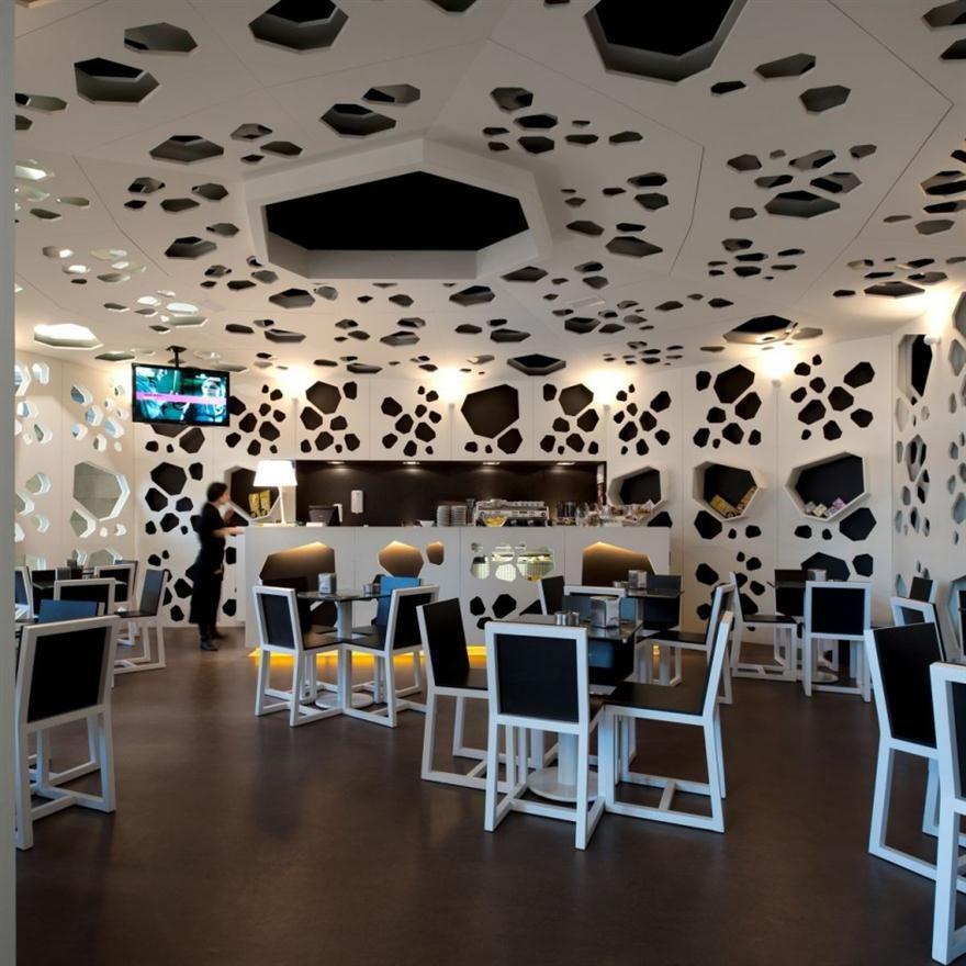 Interior Design Technology: Italian Coffee Shop Interior Design