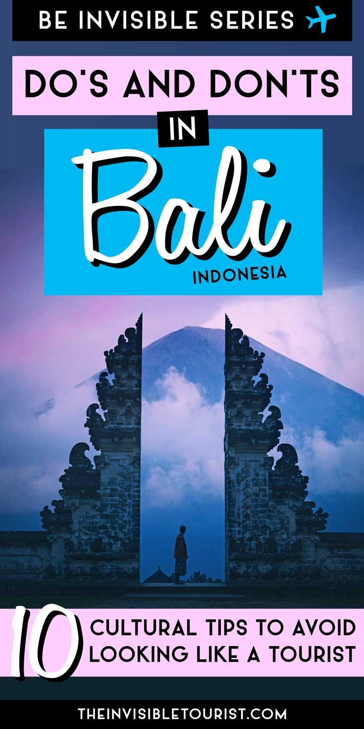 Are you planning a trip to Bali, Indonesia? These Bali travel tips will help you to avoid looking like a tourist during your trip. Learn the best travel tips and tricks from a local! | The Invisible Tourist #bali #traveltips #tripplanning #indonesia #asia #traveldestinations #baliindonesia
