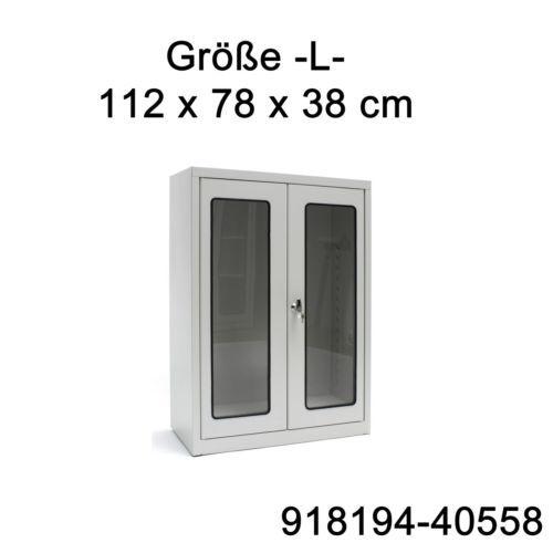 Details zu Medizinschrank Arztschrank Stahl Vitrine S-L-XL-XXL ...