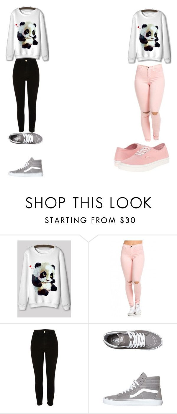 """""""panda squad"""" by rockinlady ❤ liked on Polyvore featuring River Island and Vans"""