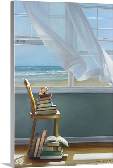 Summer Reading List Solid-Faced Canvas Print